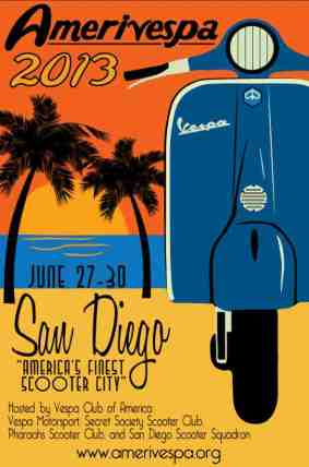 San Diego Weekend Activities from The Wanderer Guides Blog! #sandiego #vespa #scooters #vintageposter #travel #travelideas
